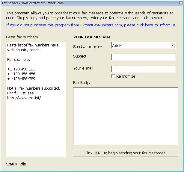 how to find fax number